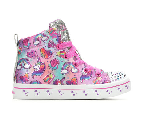 Girls' Skechers Princess Party 10.5-2 Light-Up Sneakers
