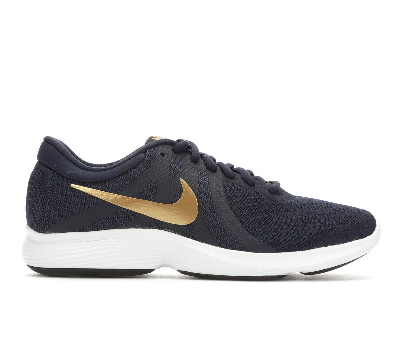 choose comfortable authentic Women's Nike Revolution 4 Running Shoes Obsidian/Gld/Bk