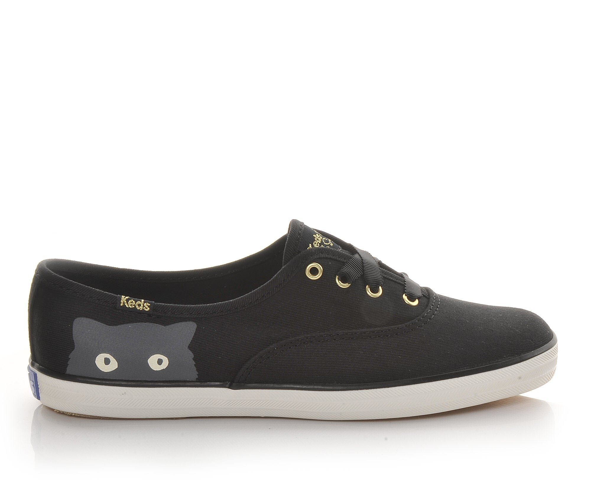 Keds Shoes Keds Taylor Swift Sneaky Cat Womens Loafers Black/Grey