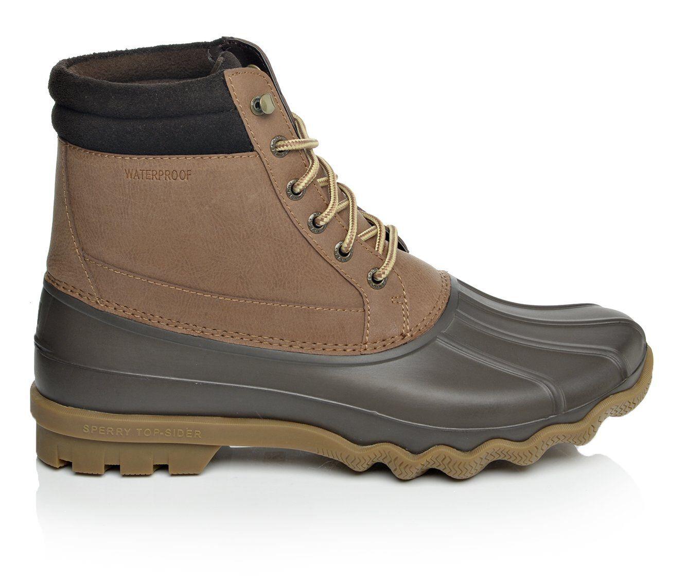 buy new style Men's Sperry Brewster Duck Boots Dark Tan