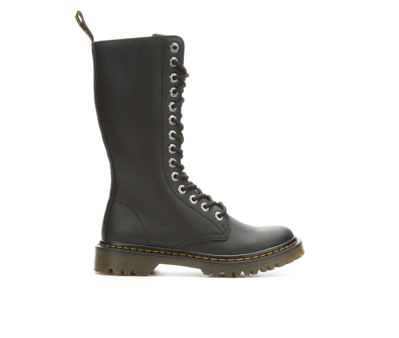 special price Women's Dr. Martens Luana Tall Combat Boots Black
