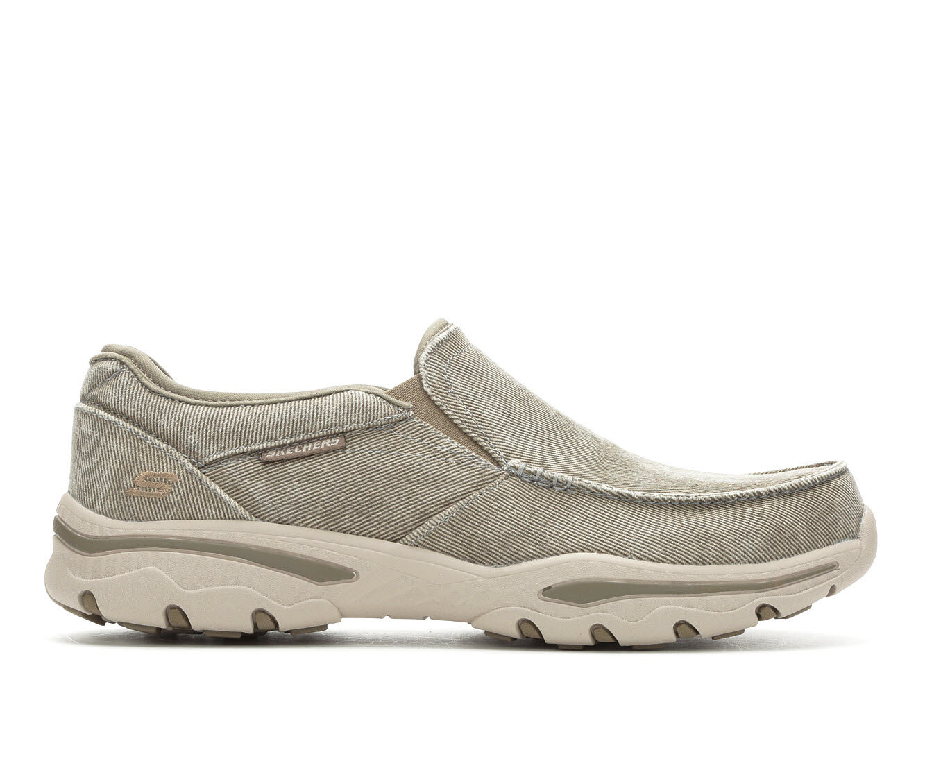 Men's Skechers Moseco 65355 Casual Moc Loafers Taupe