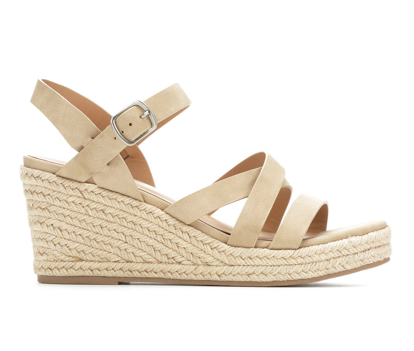 Fashionable Women's Y-Not Jubilee Strappy Wedge Sandals Taupe