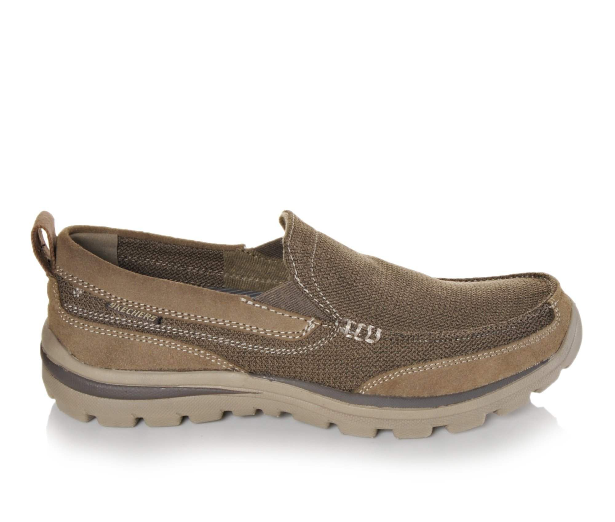 Men's Skechers Milford 64365 Casual Shoes Light Brown