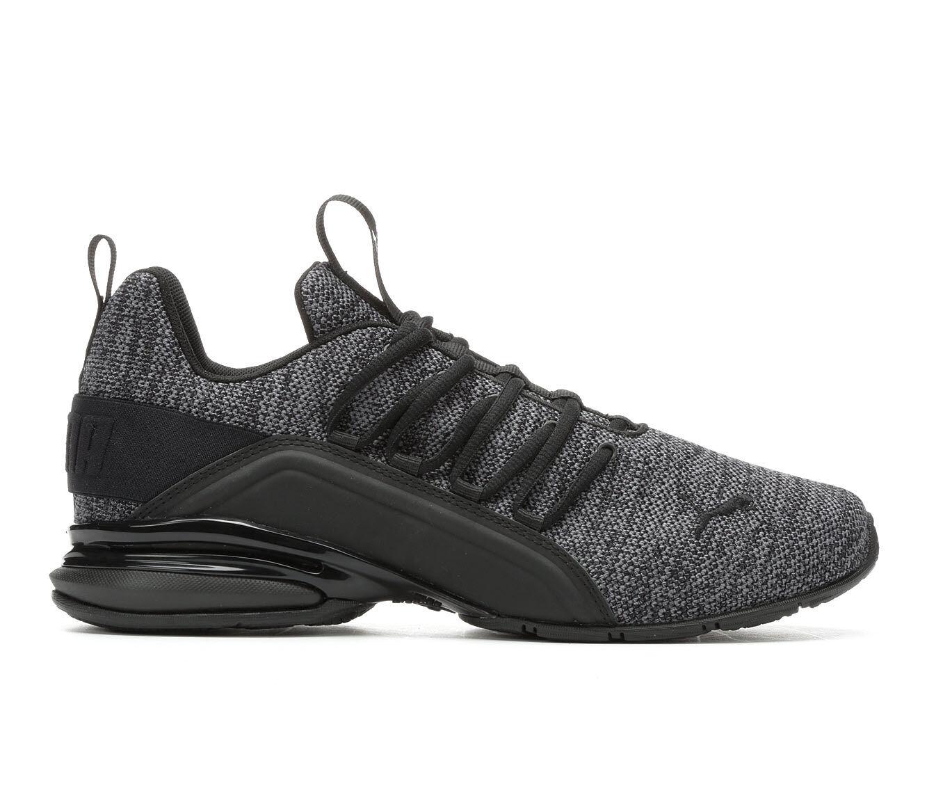 Men's Puma Axelion Knit Sneakers Grey/Black