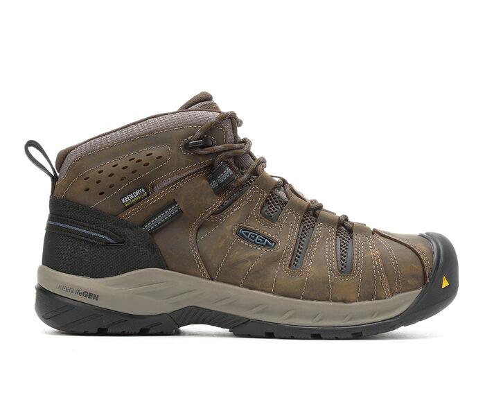 Men's KEEN Utility Flint II Mid Waterproof Steel Toe Work Boots
