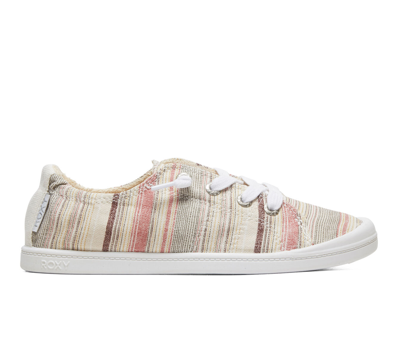 choose comfortable Women's Roxy Bayshore Sneakers Stripe Plumeria