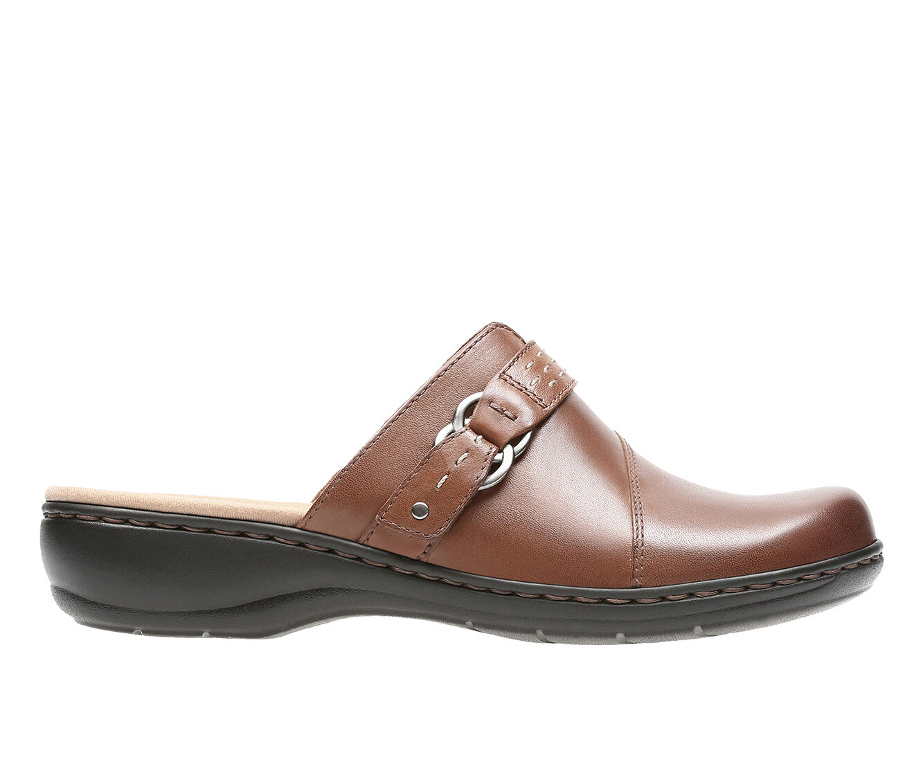 Women's Clarks Leisa Sadie Clogs Dark Tan