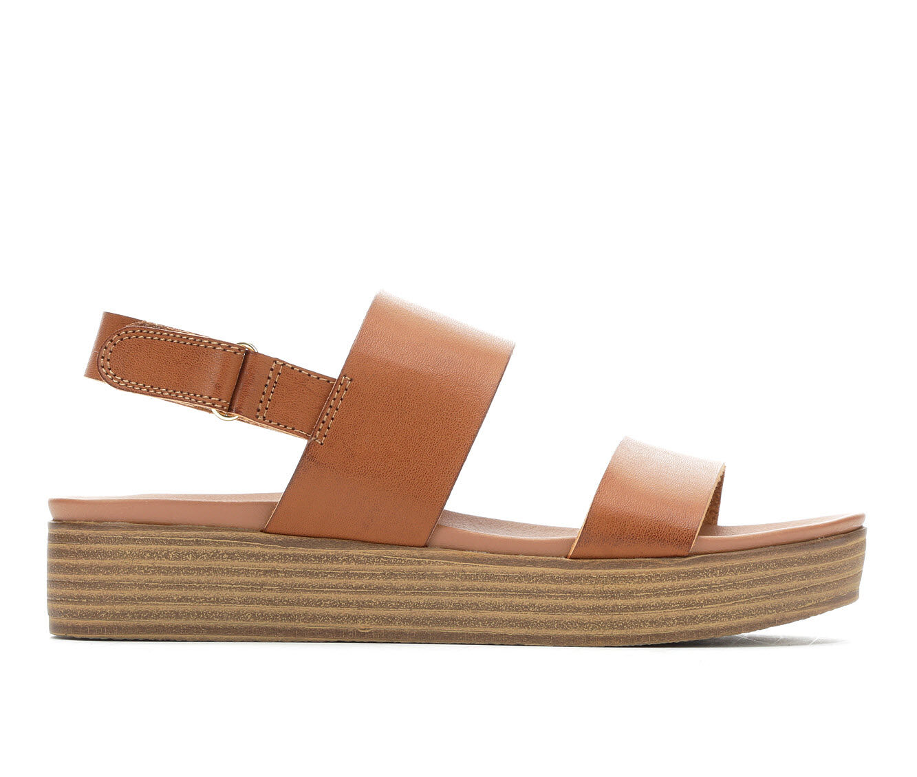 Women's Madden Girl Ashley Flatform Sandals Cognac