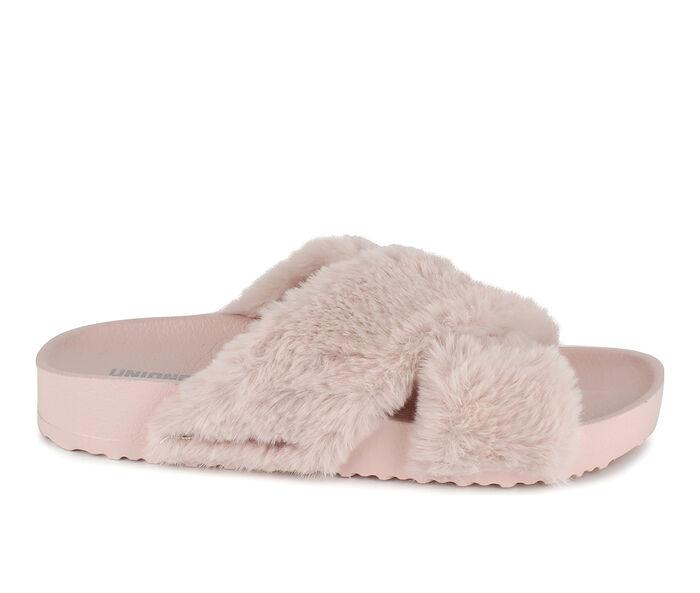Women's Unionbay Luxe Fuzzy Slides
