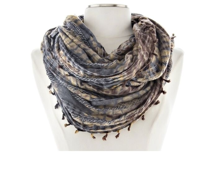 Collection 18 Tie Dye Scaled Loop Scarf