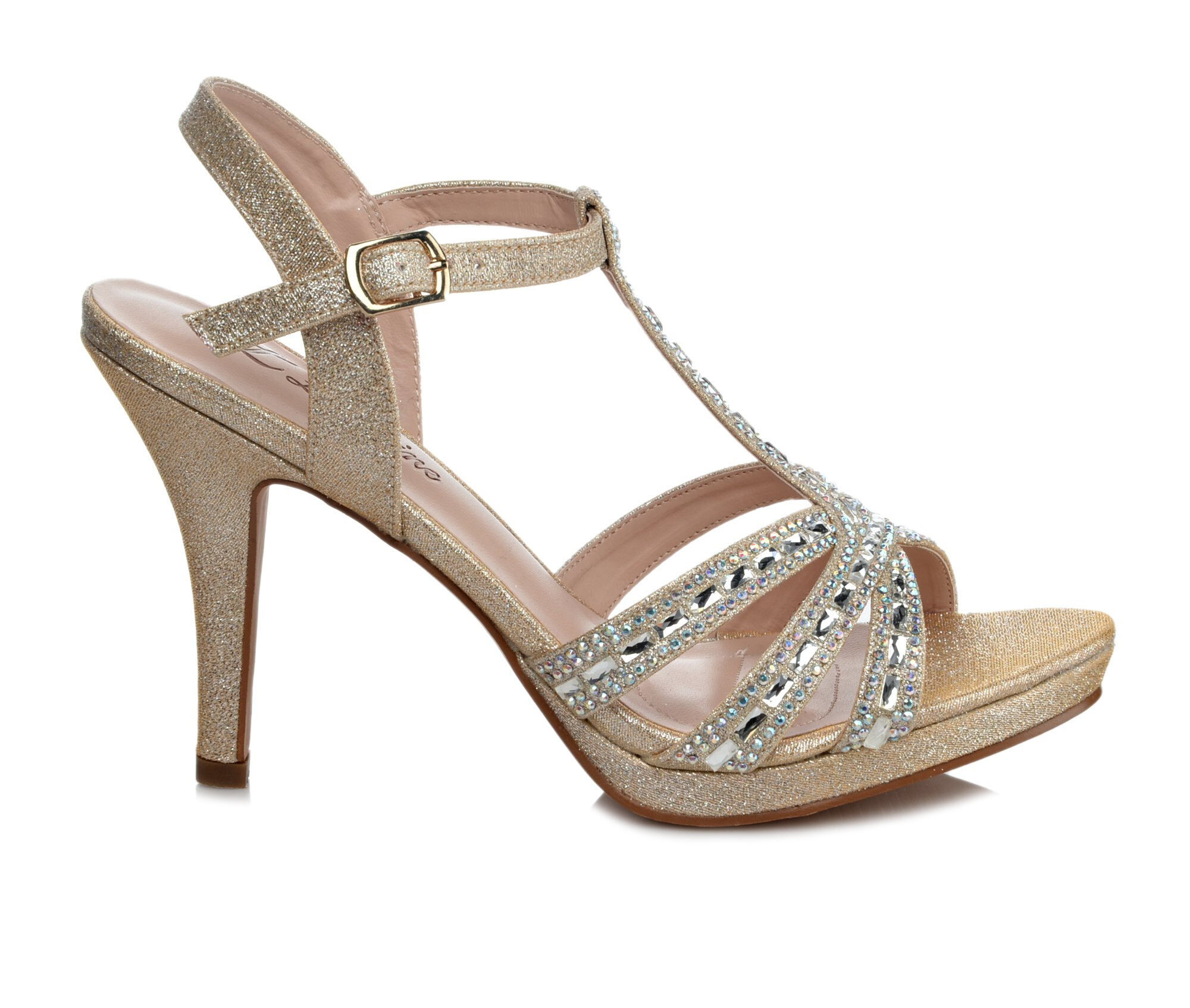 Women's LLorraine Lilly Strappy Heeled Dress Sandals Nude