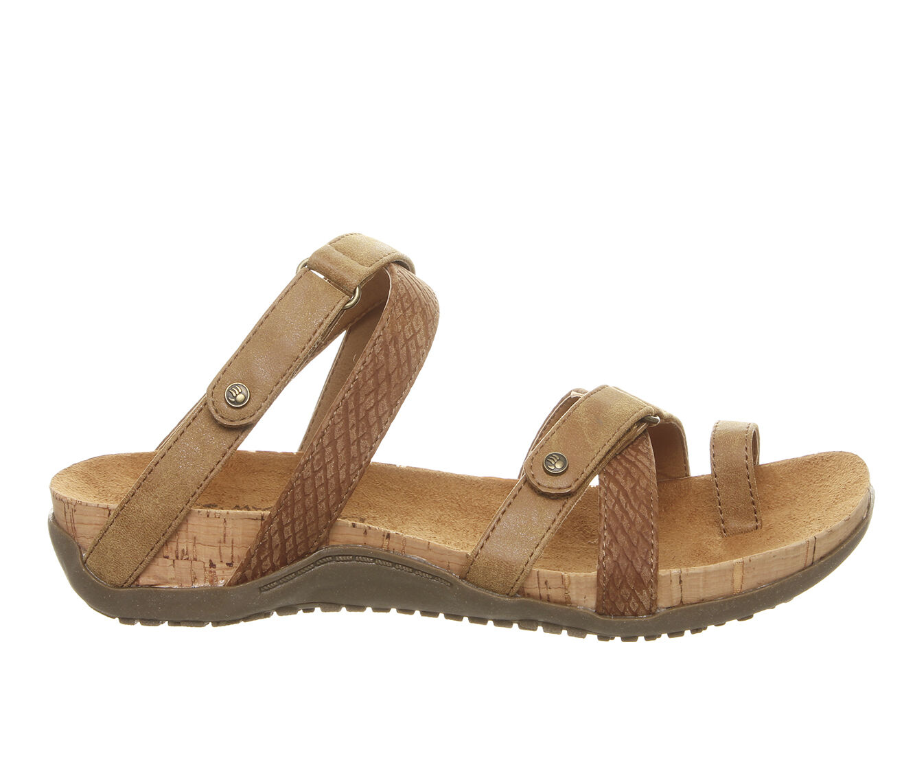 Women's Bearpaw Nadine Footbed Sandals Tan