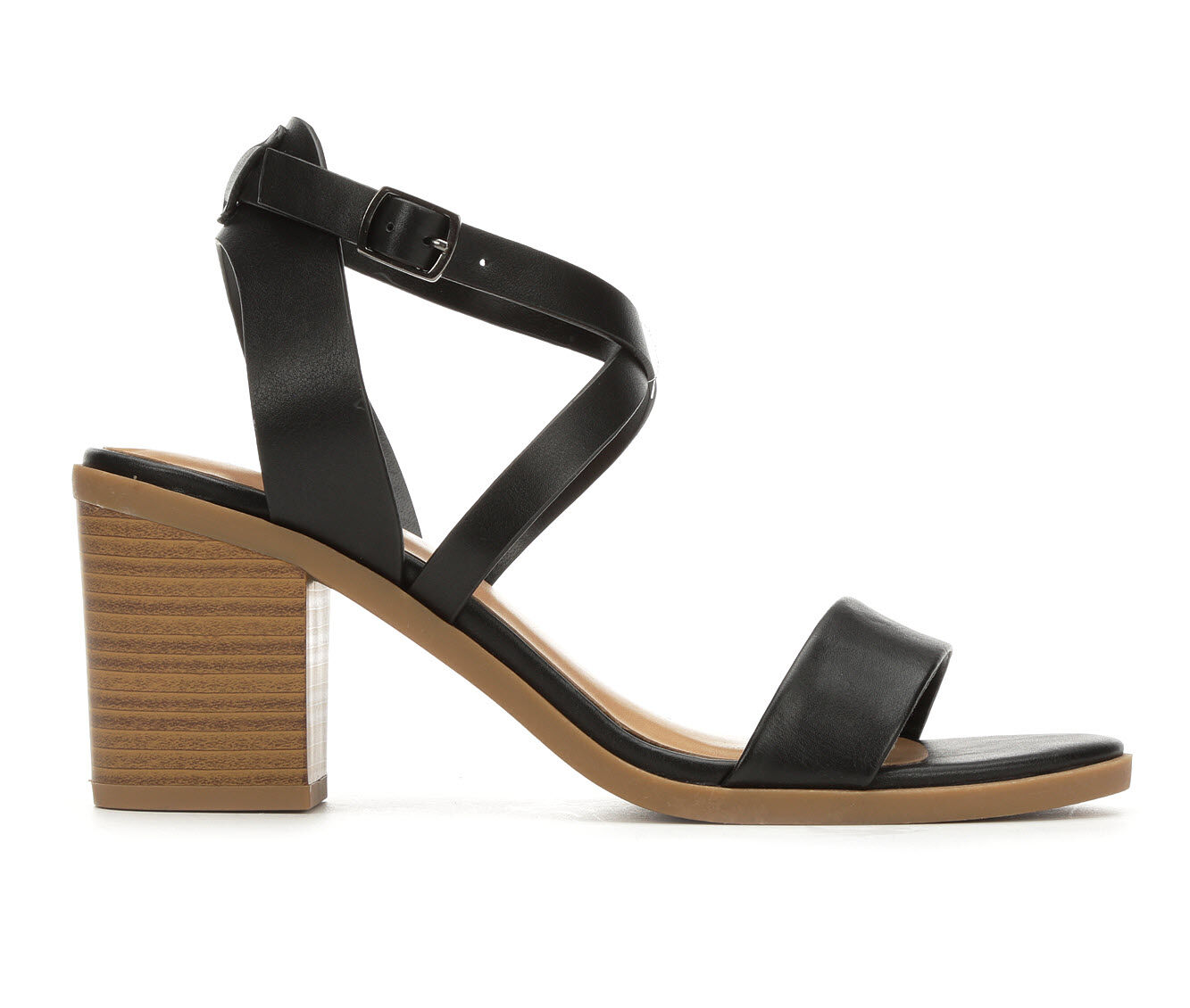 Women's Soda Coupon Strappy Sandals Black