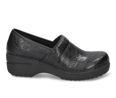 Women's Easy Works by Easy Street Lead Black Tooled Slip-Resistant Clogs