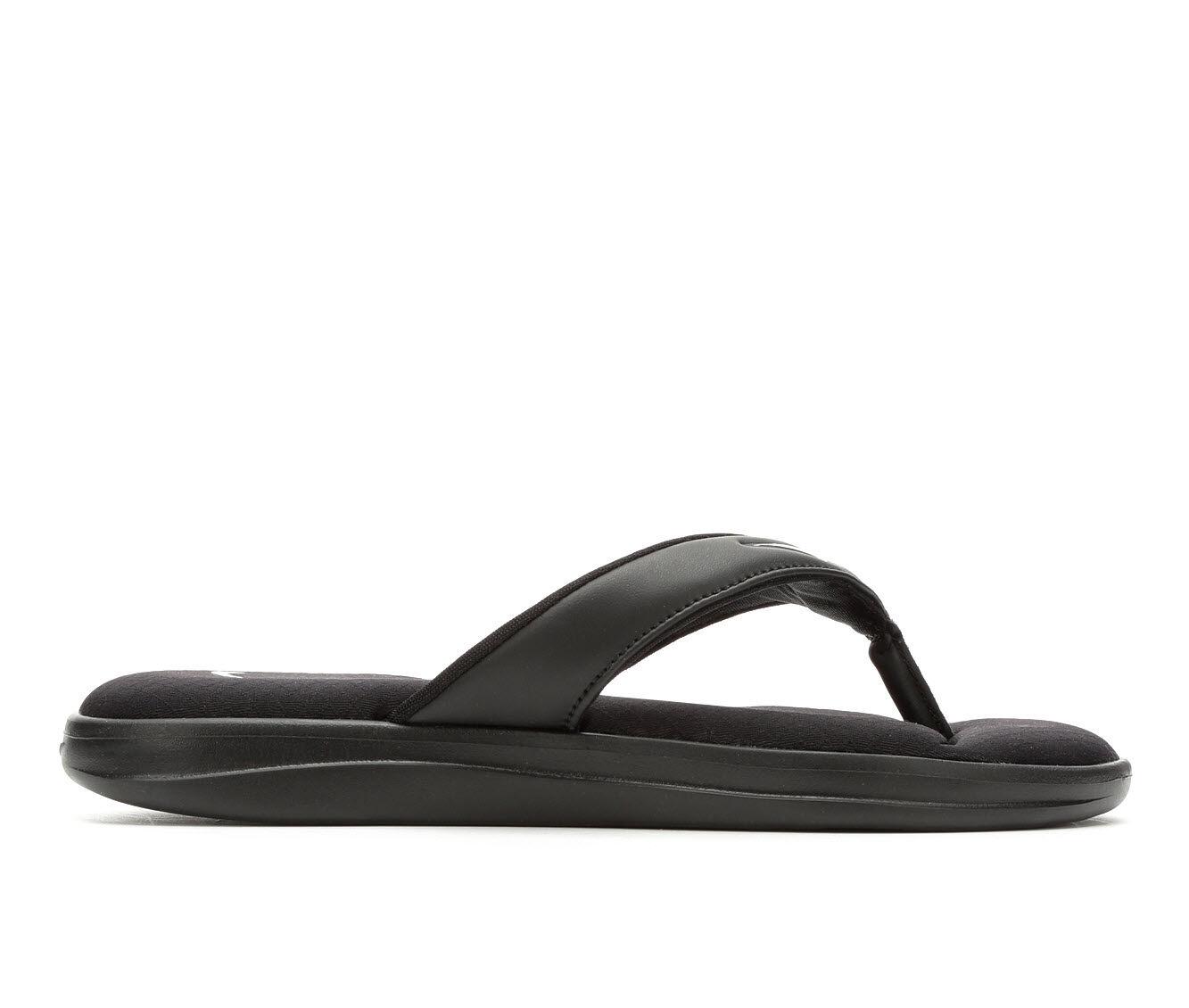 Outdoor Sports Women's Nike Ultra Comfort Thong 3 Sport Sandals Black/White