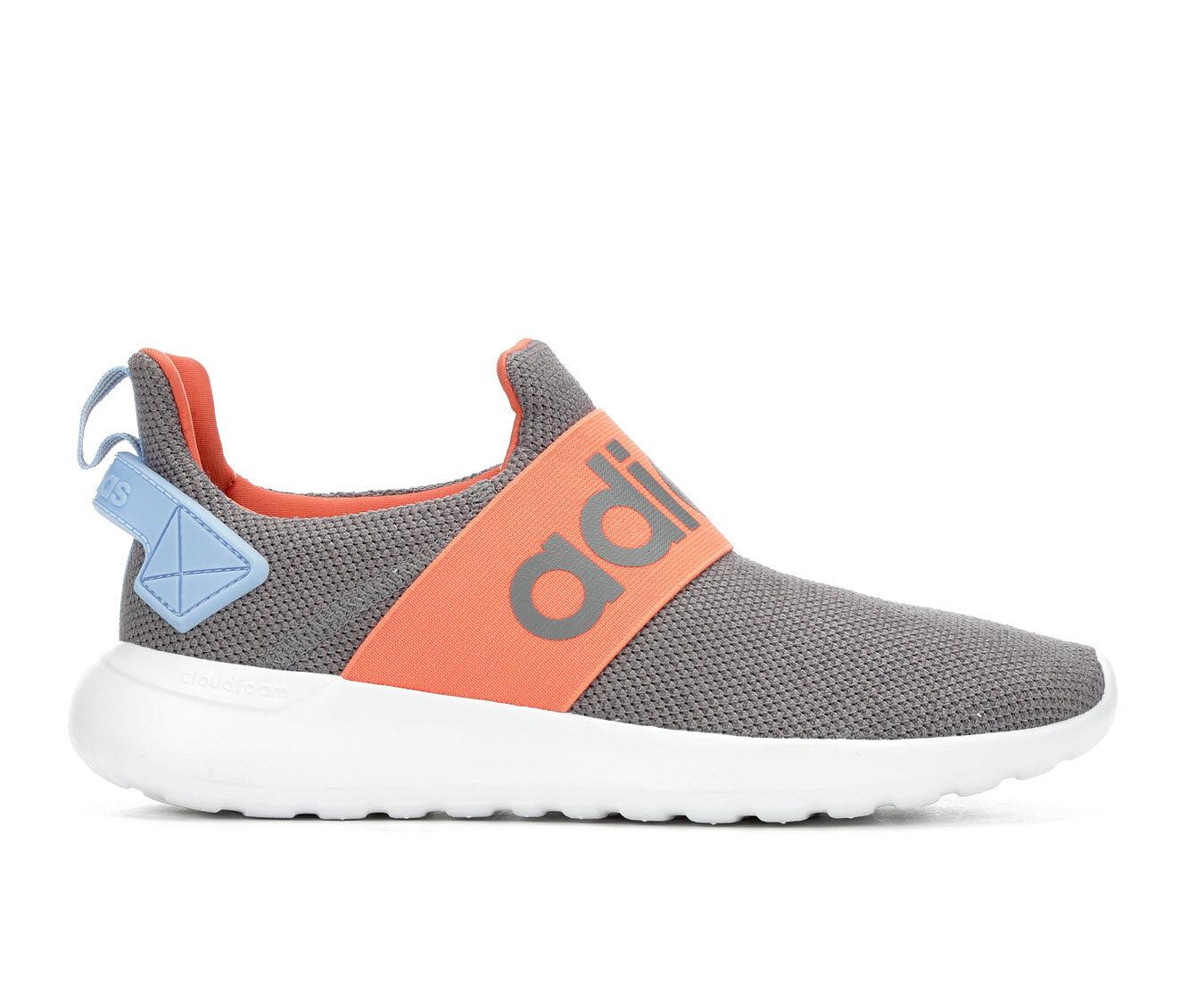 Women's Adidas Lite Racer Adapt Slip-On Sneakers Gry/Orange/Blue