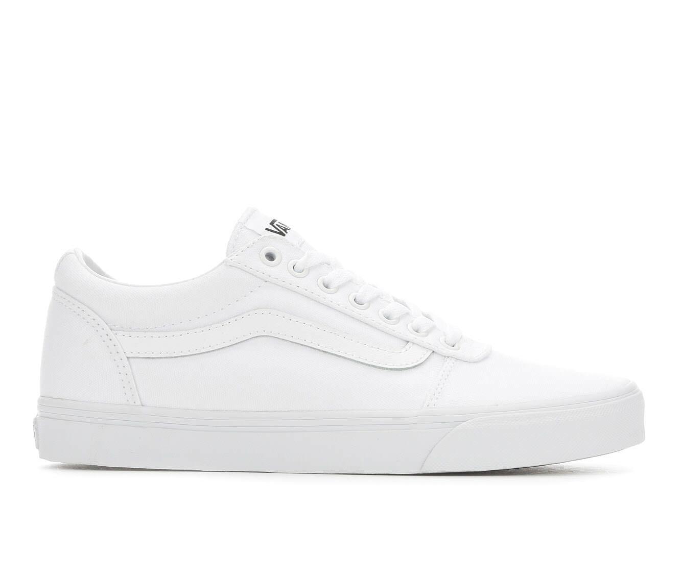 Excellent Quality Men's Vans Ward Skate Shoes White/White