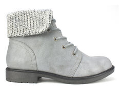 Women's Cliffs Dalpha Sweater Cuff Lace-Up Booties