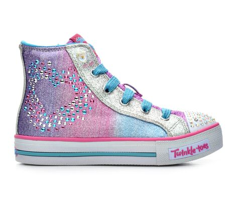 Girls' Skechers Glitzy Hearts 10.5-4 Light-Up Shoes
