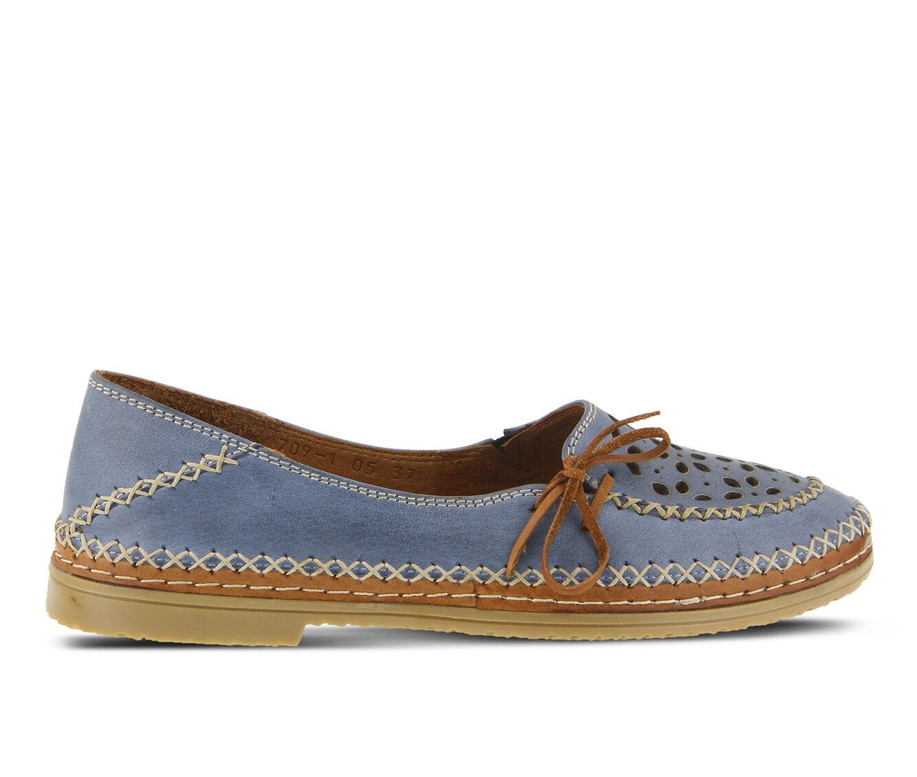 Women's SPRING STEP Sideway Flats Blue