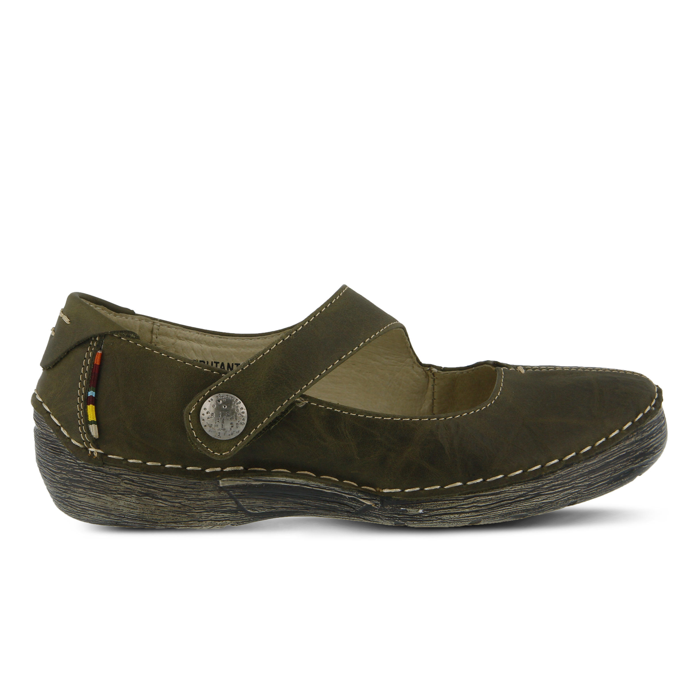 Women's SPRING STEP Debutante Shoes Olive Green