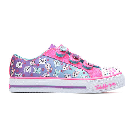 Girls' Skechers Paw Party 10.5-4 Light-Up Sneakers