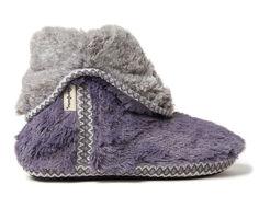 Dearfoams Beth Pile Fold Down Bootie Slippers