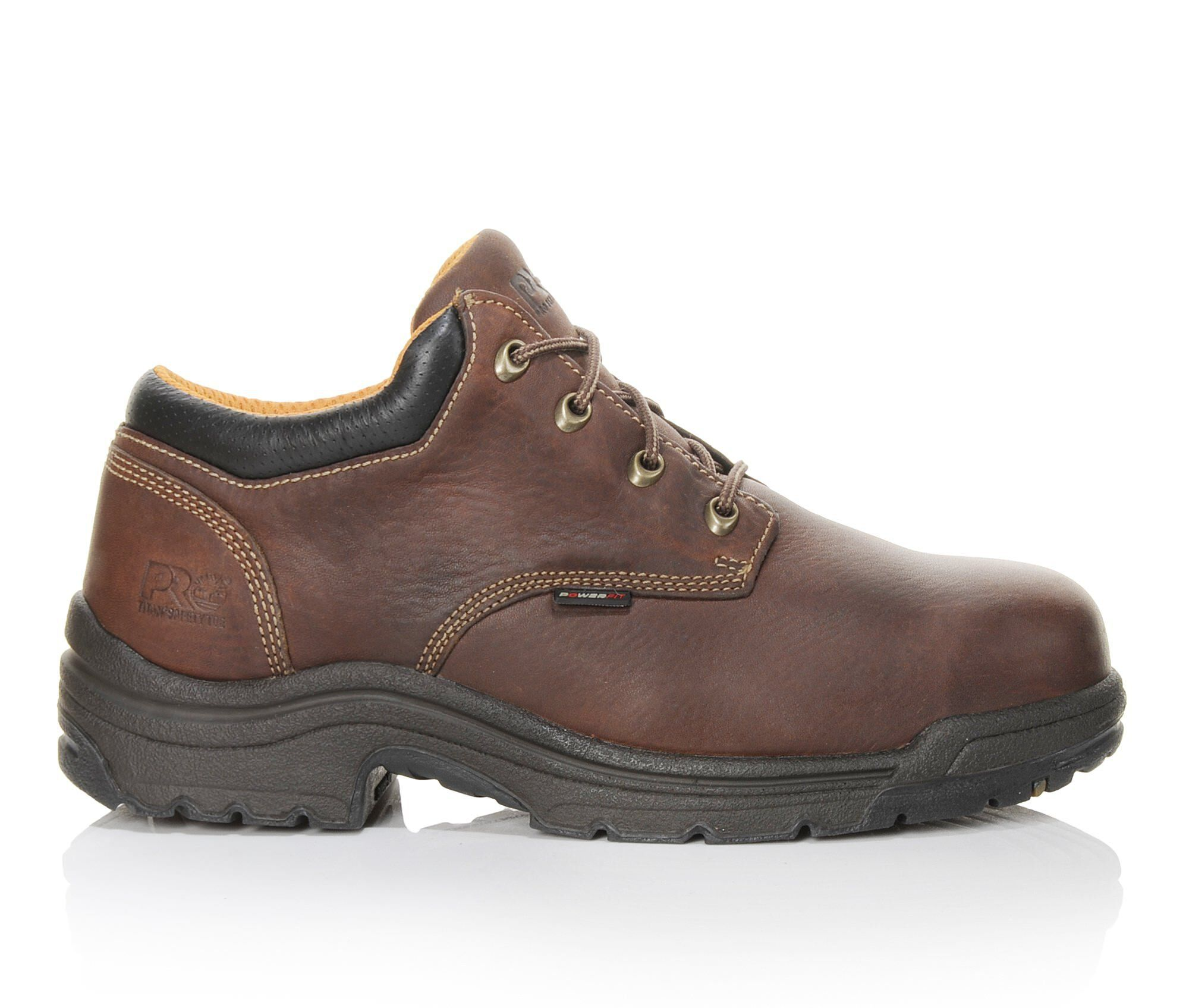 Men's Timberland Pro Titan Oxford 47028 Alloy Toe Work Shoes Trail Brown