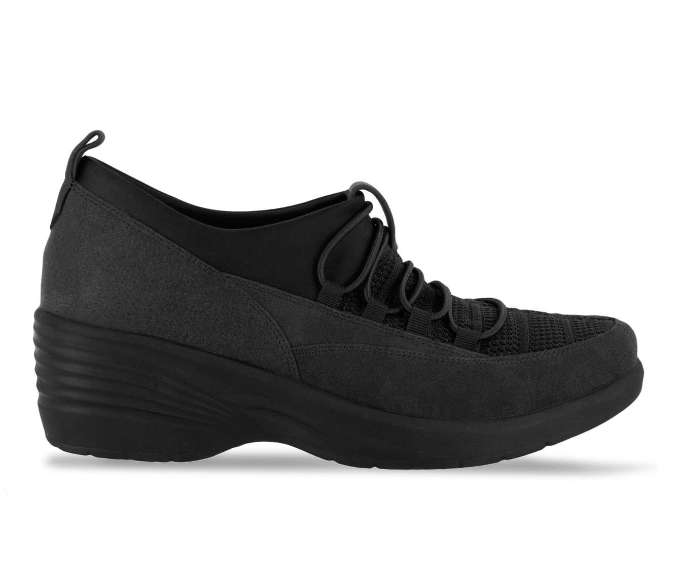 Women's Easy Street Sleek Black Fabric
