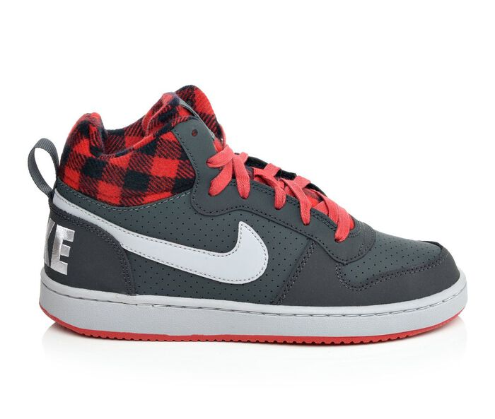 Boys' Nike Court Borough Mid Premium 3.5-7 Sneakers