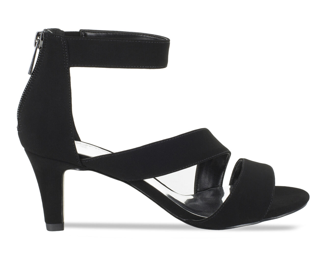 Women's Easy Street Maxi Strappy Heeled Dress Sandals Black Lamy