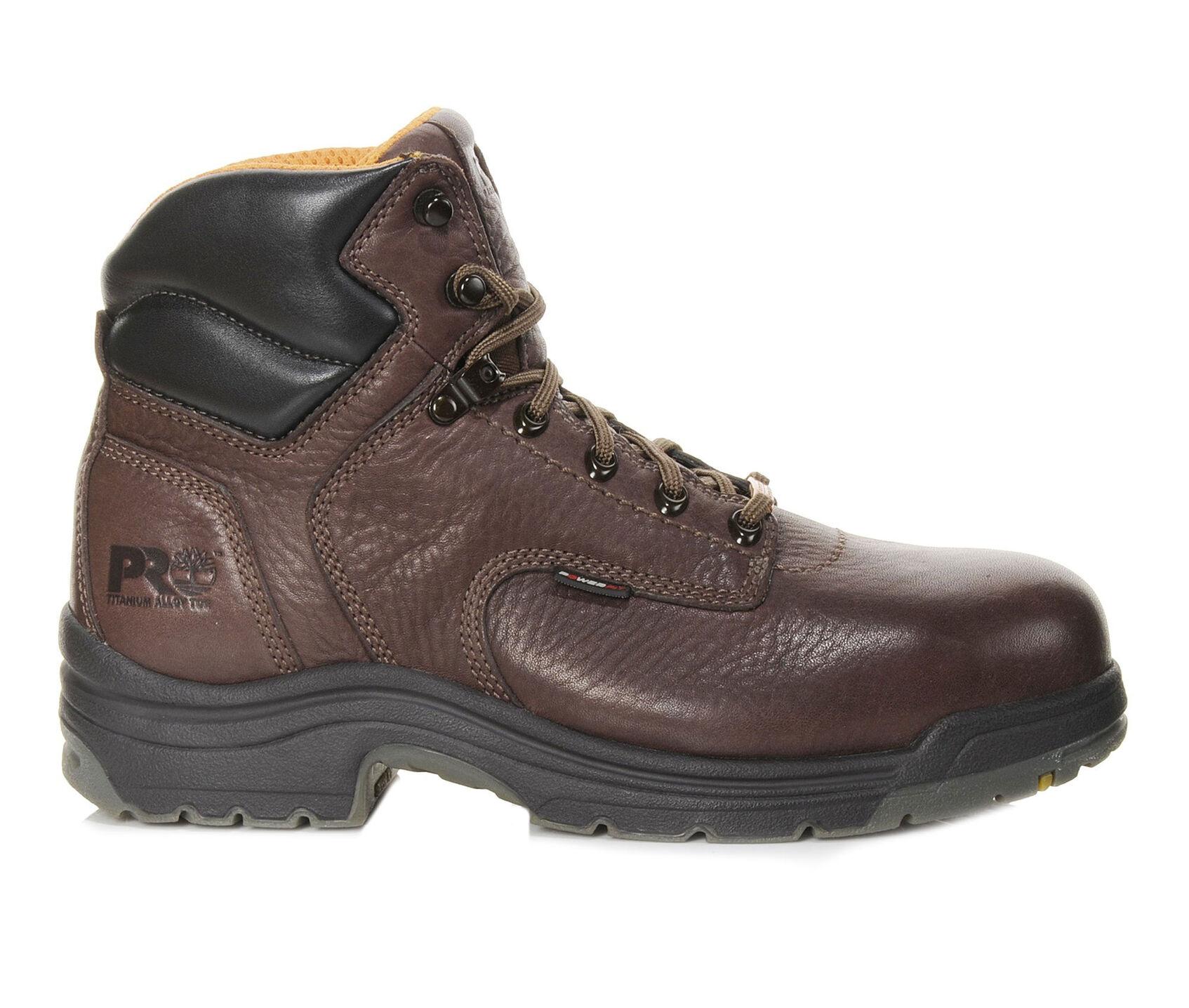 luistella kengät aitoja kenkiä näyttää hyvältä kengät myynti Men's Timberland Pro Titan 6in 26063 Alloy Toe Work Boots