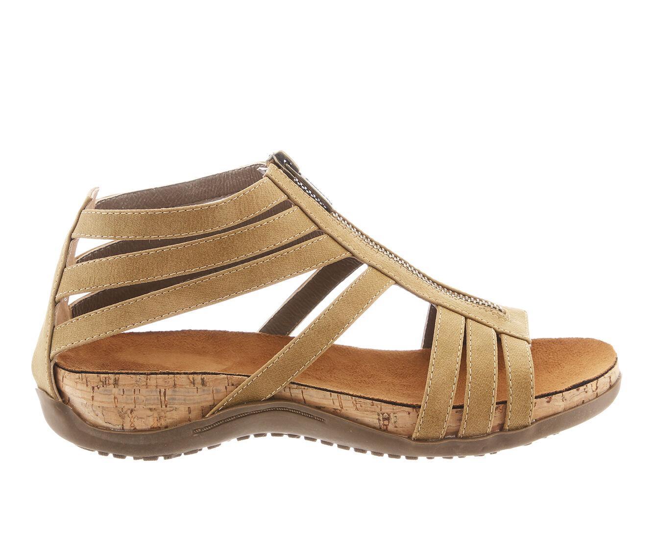 get classic Women's Bearpaw Layla Footbed Sandals Tan