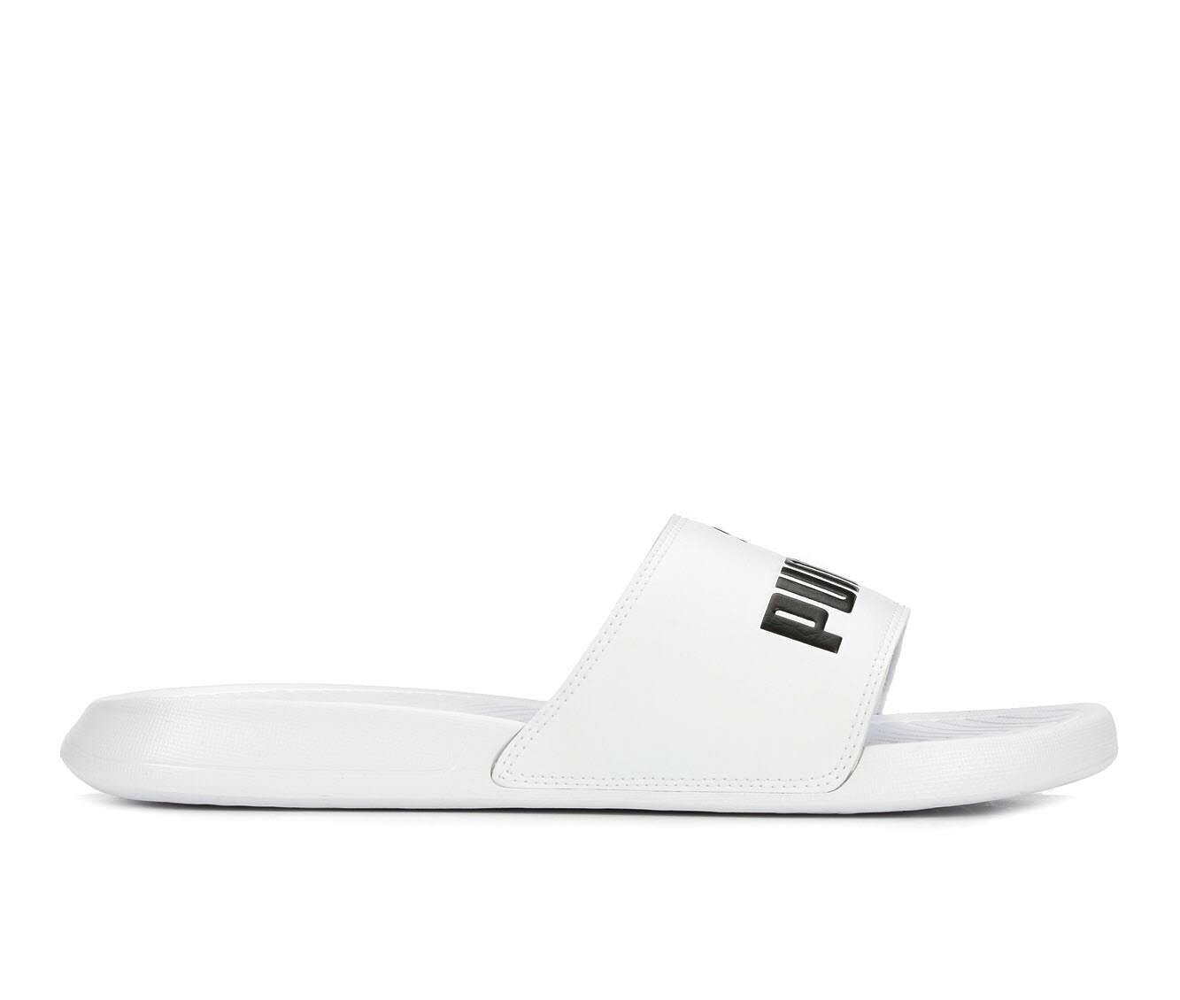 Men's Puma Popcat Sport Slides White/White