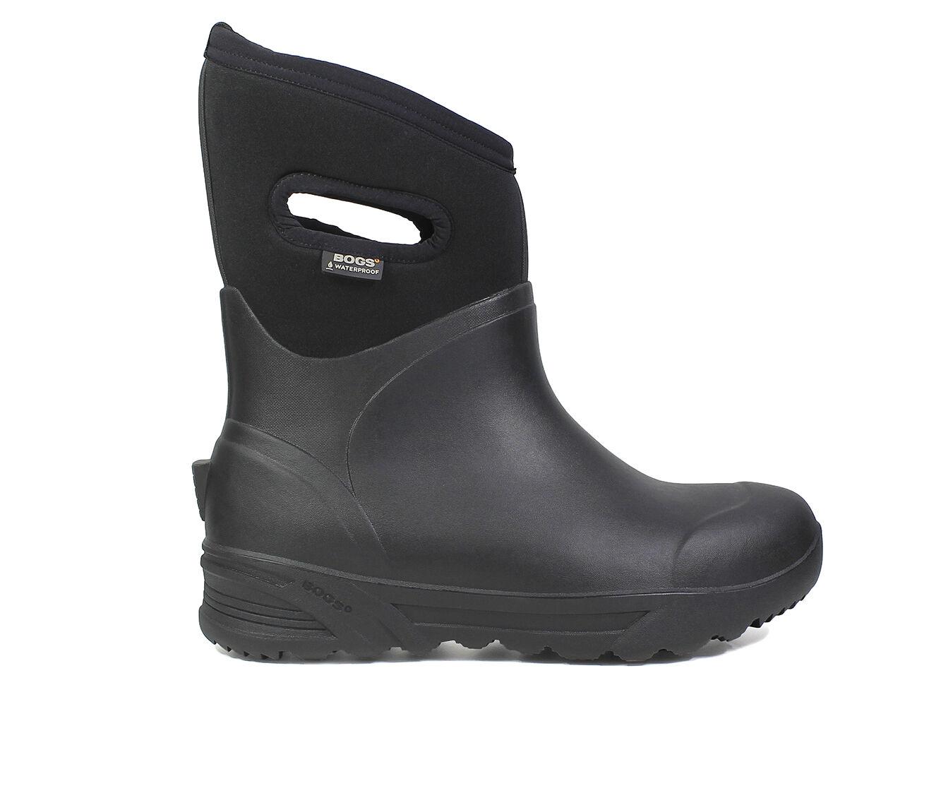 Men's Bogs Footwear Bozeman Mid Insulated Waterproof Boot Insulated Boots BLACK