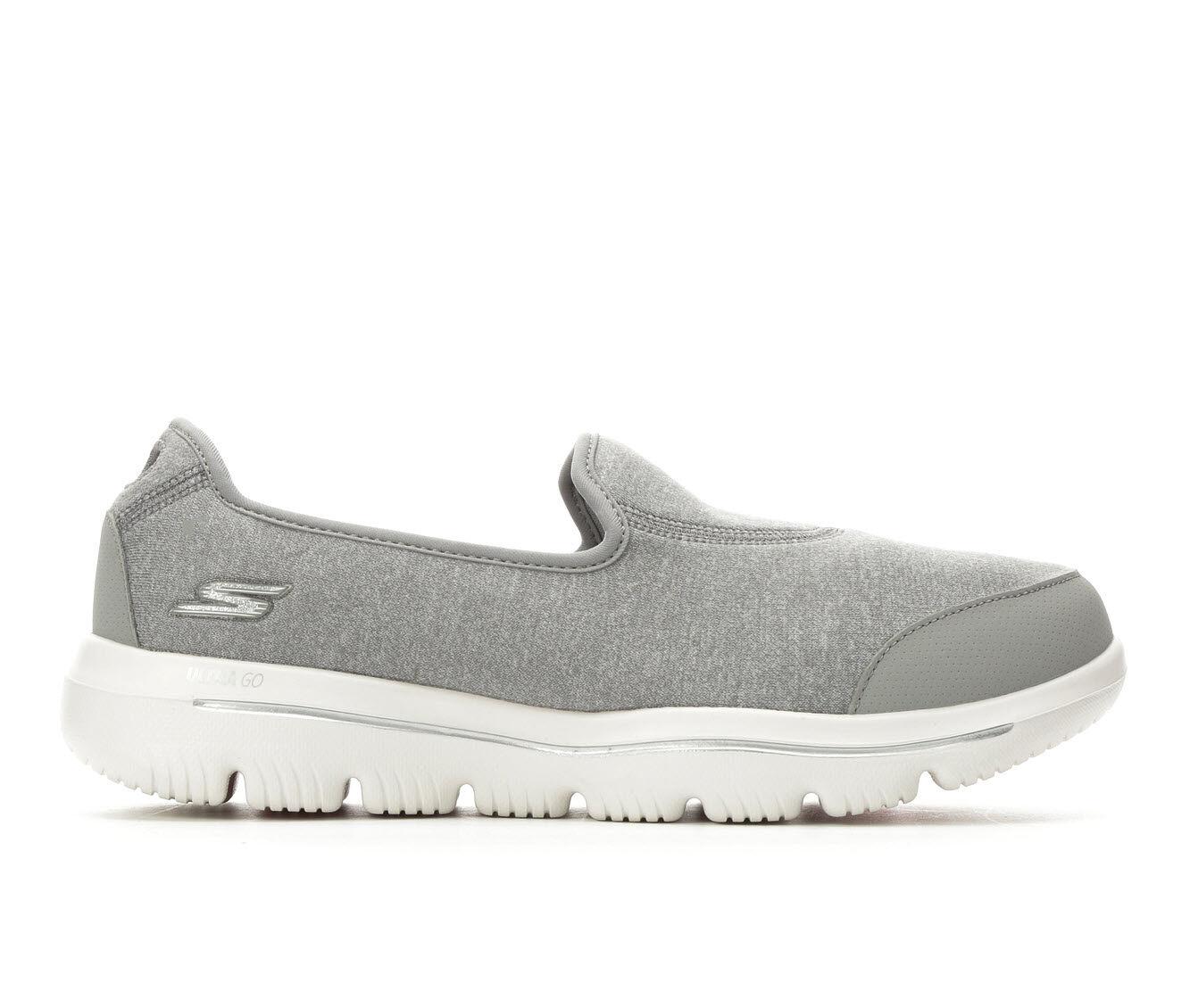 Women's Skechers Go Ultra 15763 Slip-On Shoes Grey