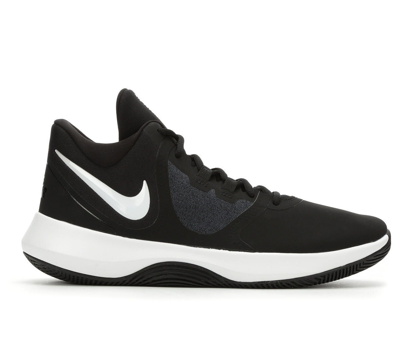 Men's Nike Air Precision II Nubuck Basketball Shoes Black/White 001