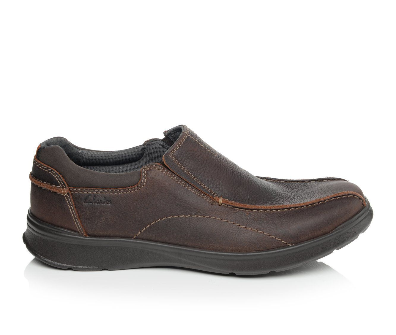 Men's Clarks Cotrell Step Slip-On Shoes Brown