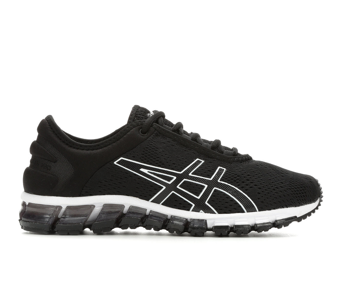 Women's ASICS Get Quantum 180 3 Running Shoes Black/WHite