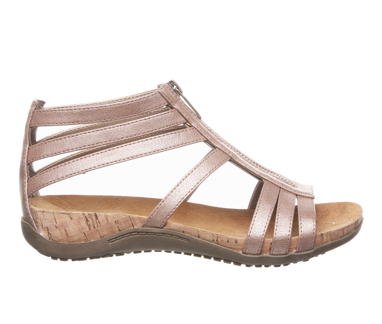 Women's Bearpaw Layla Footbed Sandals Rose Gold