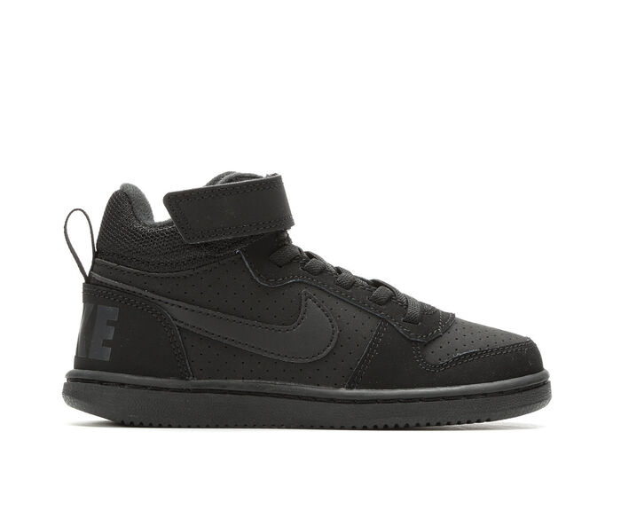 Kids' Nike Little Kid Court Borough Mid Velcro High Top Basketball Shoes