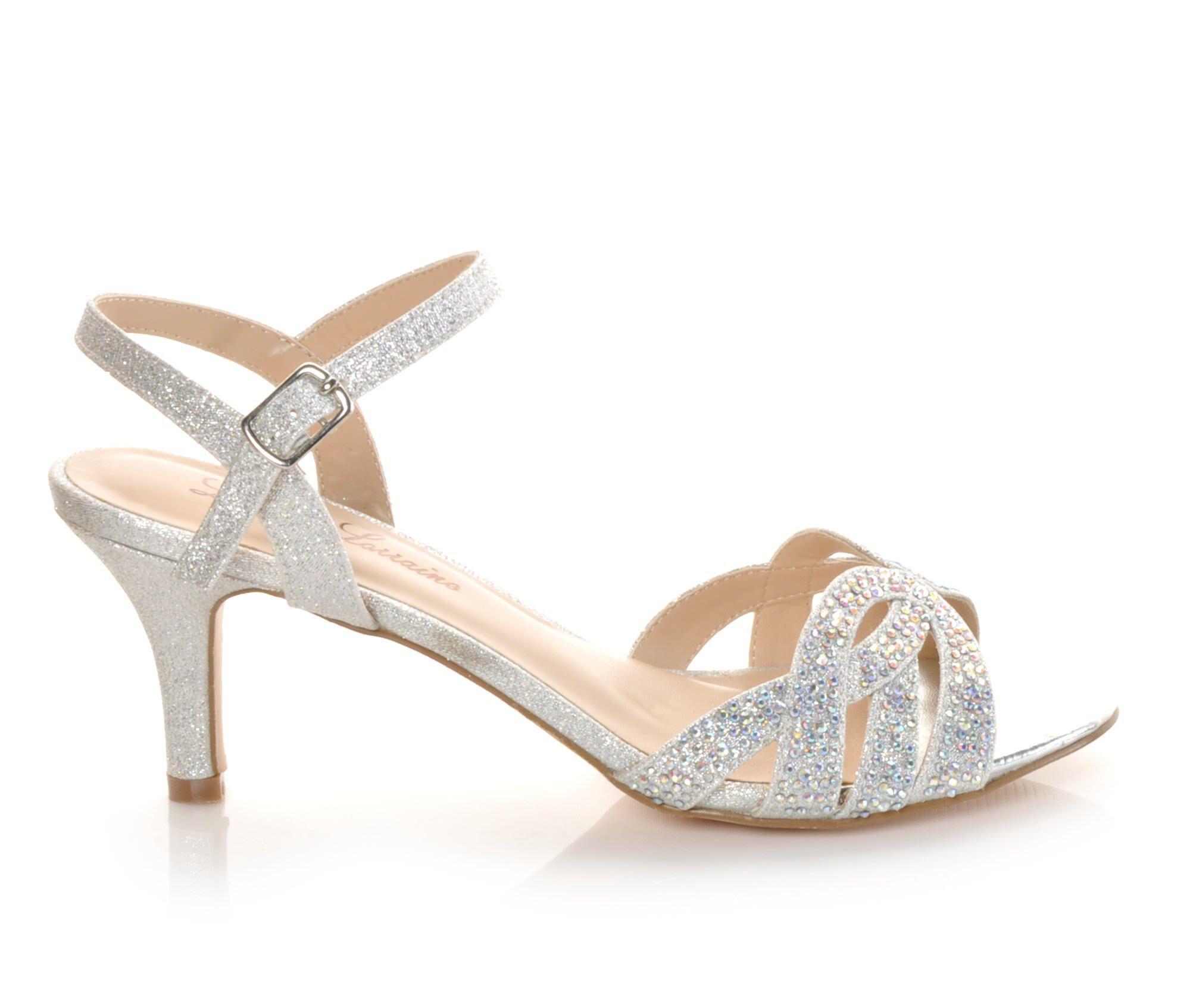 Women's LLorraine Vanessa Strappy Dress Sandals Silver