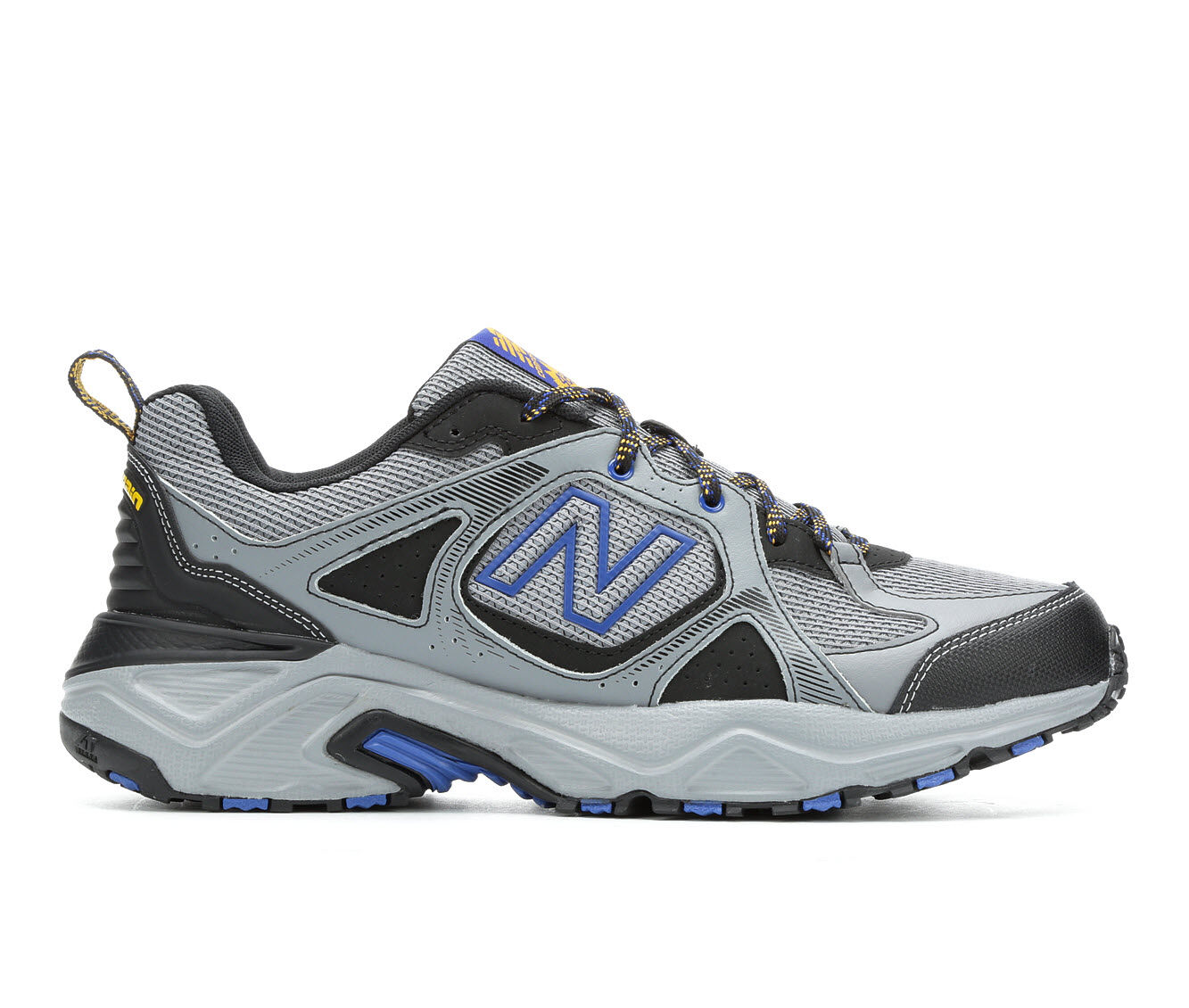 Men's New Balance MT481 Trail Running Shoes Gry/Blu/Org