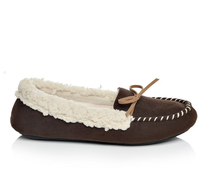 Women's Dearfoams Moccasin with Quilted Tab