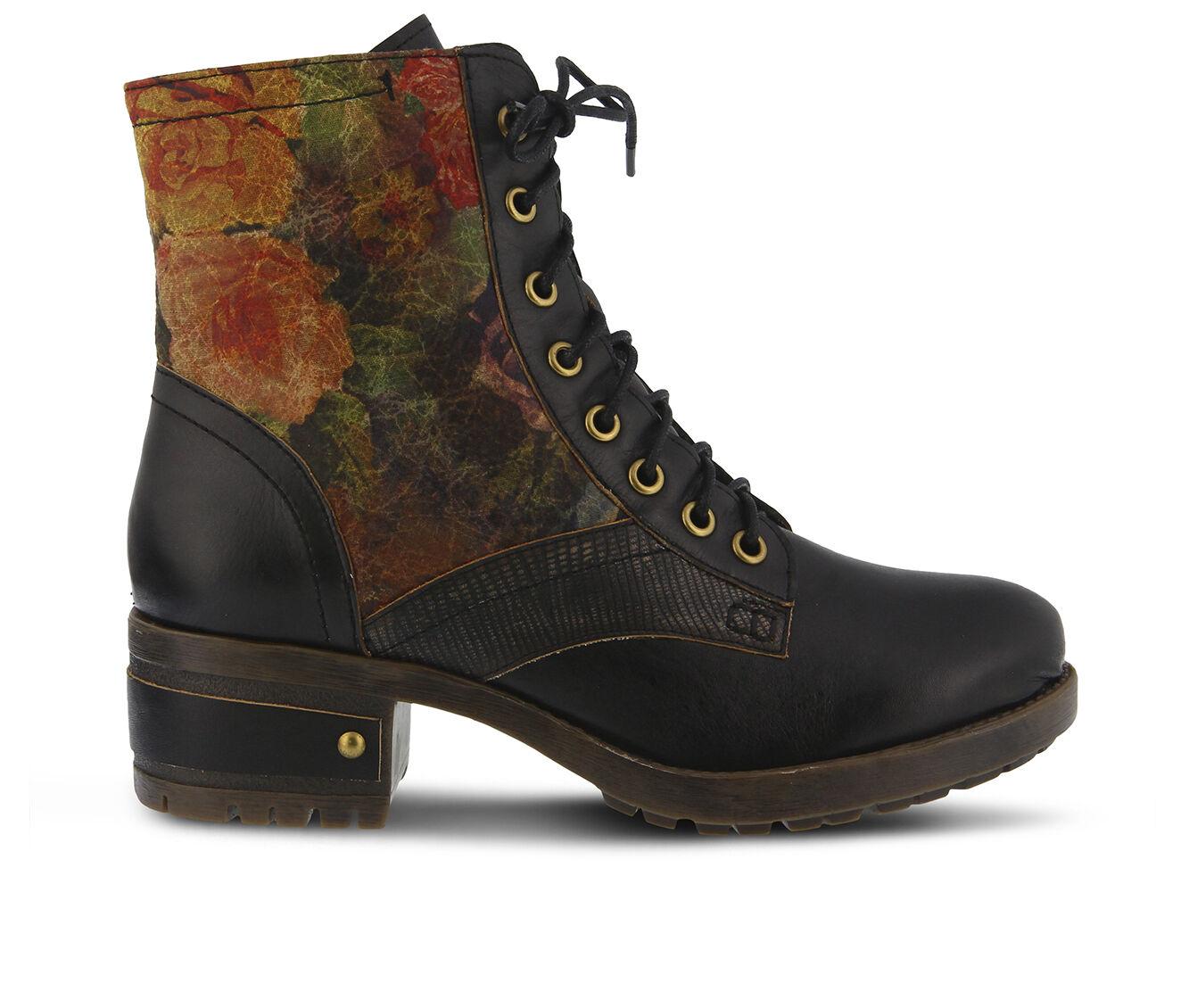 easy returns Women's L'ARTISTE Marty Hiking Boots Black