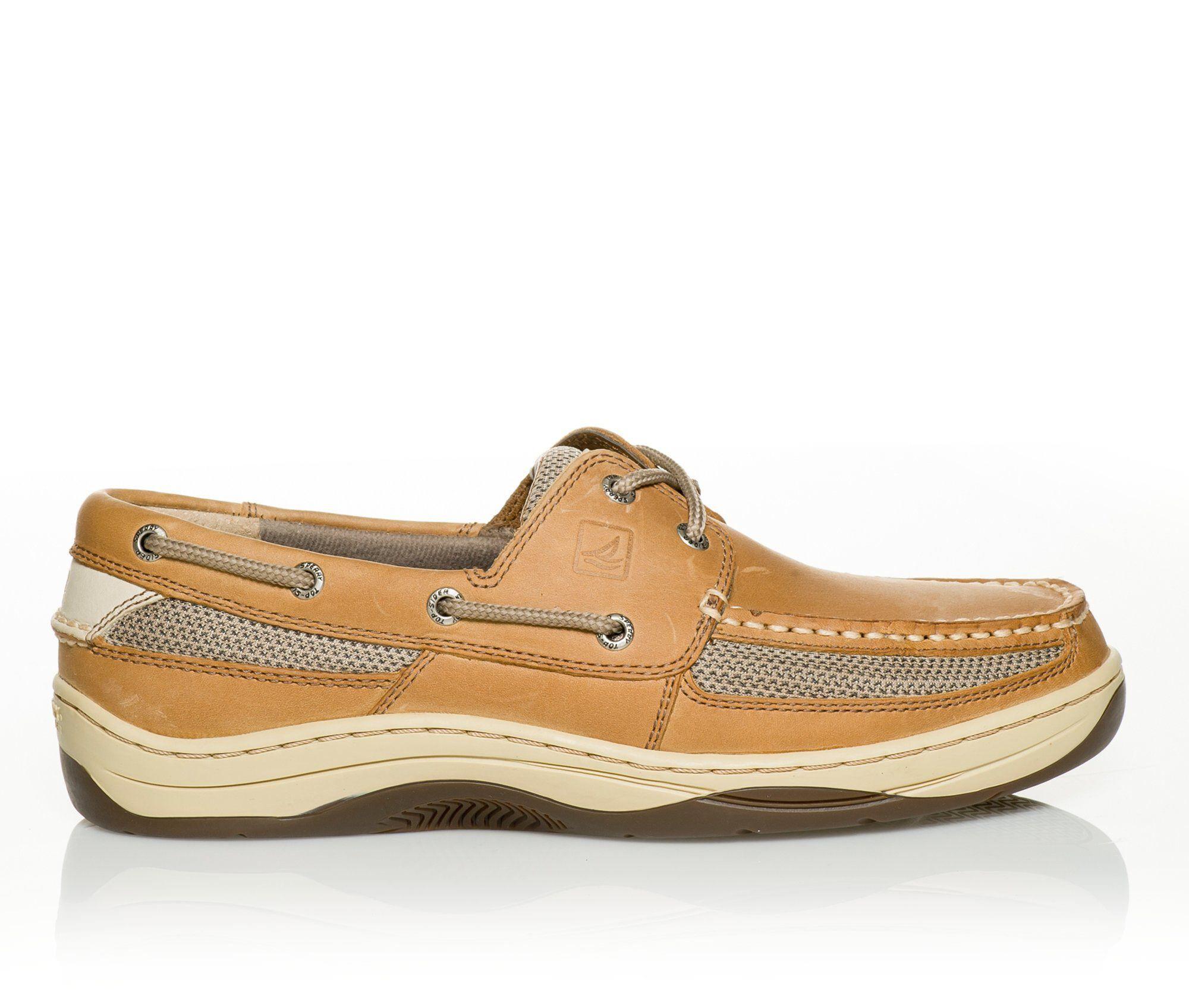 Men's Sperry Tarpon 2 Eye Boat Shoes Linen/Oat