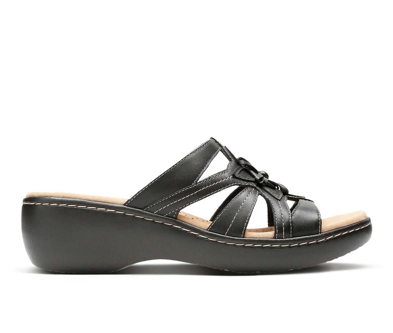 100% quality materials Women's Clarks Delana Venna Sandals Black Leather