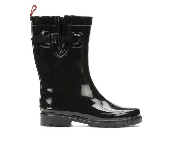 Women's Capelli New York Shiny Solid Mid Rain Boots
