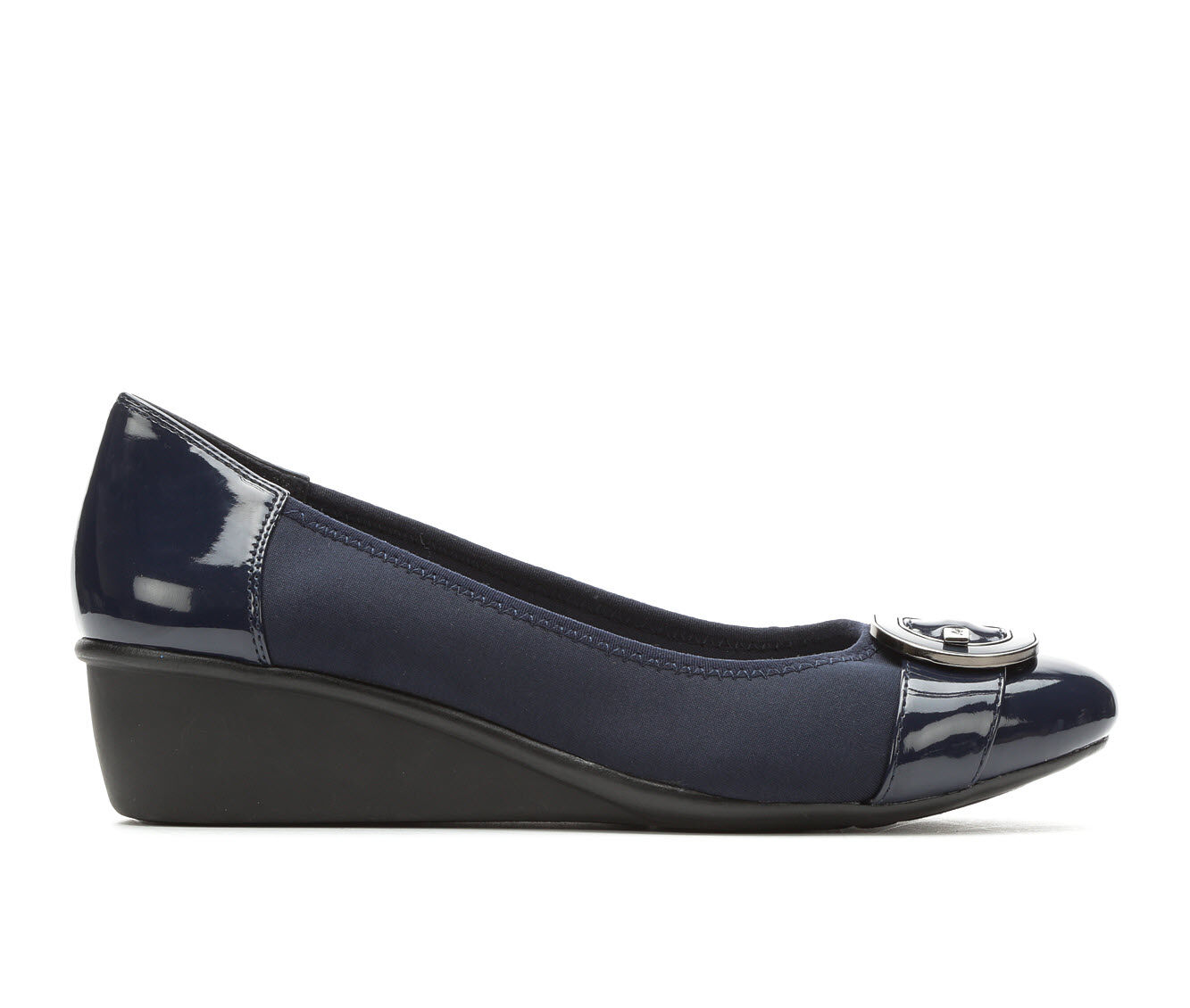 Women's Anne Klein Sport Decklyn Wedge Heels Navy